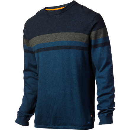 Surf Your beachy style doesn't have to be all loud and shouty. The subtle styling of the Quiksilver Waterman Mid Shore Sweater is all the surfiness you need. The Mid Shore is even made with 5% cashmere for a  soft feel and a classy look. - $66.50