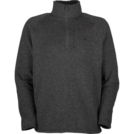 The North Face fashioned the Gordon Lyons  1/4-Zip Sweater out of travel-friendly technical fleece, and endowed it with an understated, go-anywhere style. This pullover's heavyweight fleece provides exceptional warmth while also breathing for comfort and drying quickly if you're caught in a snow shower. Features like a passport (or media)-sized chest pocket and gusseted underarms make it an ideal companion on a tour of the Dolomites or a spin around San Francisco. - $47.97