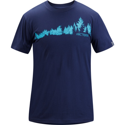 The Arc'Teryx Men's Treeline T-Shirt pays homage to those tall, green things that keep our planet stocked with fresh, high-quality oxygen. Toss on this smooth cotton tee whenever you're feeling bummed about all the smog in your city. - $31.16