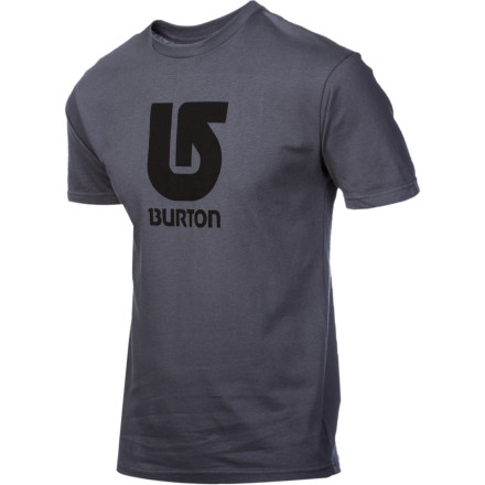 Snowboard After the summer sun melts the snow off the mountain, it comes after your snowy soul. Keep your cold-loving core in its preferred state with the short-sleeve Burton Logo Vertical T-Shirt. - $15.71