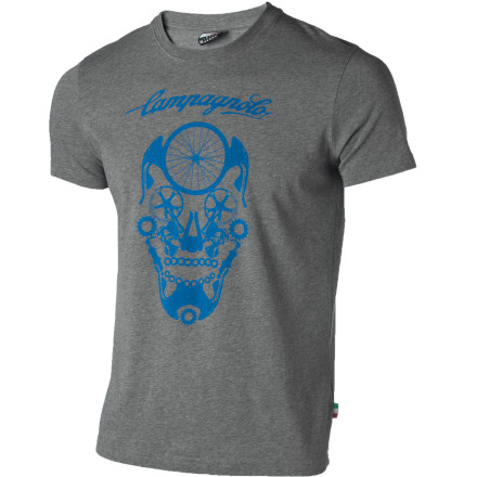 Fitness The Campagnolo Sportswear Skull T-Shirt is an accurate depiction of the badass vintage Italian robots that attempted to take over the world in the 1978 uprising. - $15.98