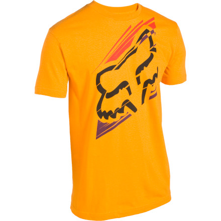 Fitness Pull on the Fox Racing Slanted Short-Sleeve T-Shirt and hit the town. We can't guarantee that it'll make you stronger, faster, better looking, or anything like that, but it'll get you most of the way into places with a 'no shirt, no shoes, no service' policy. - $8.00