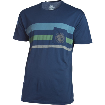 Skateboard Perhaps the old-school stripes on the Quiksilver Edition Bruiser T-Shirt match your longboard, or maybe you just need a really good looking T-shirt. Maybe both. - $13.50