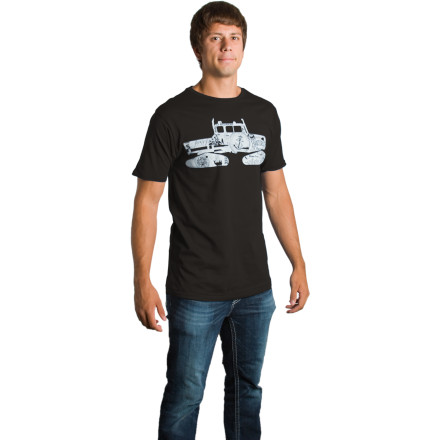 Skateboard Throw on the Spacecraft Men's Essential Snowcat T-Shirt, head to the local coffee shop, and punch the first person you see right in their stupid face. - $19.96