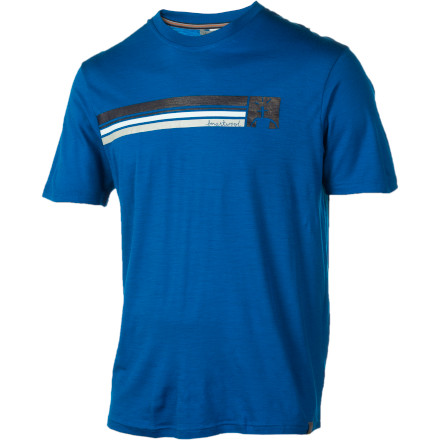 Camp and Hike SmartWool designed the Logo Stripe T-Shirt to look like a casual T-shirt with a stylish stripey print, but its 100% merino wool construction packs all the moisture-wicking, odor-fighting performance that you'll need to keep you dry and comfortable on your next hike, bike, or run. - $32.48
