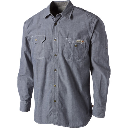Camp and Hike Once you've finished splitting wood wipe off your sweaty brow, adjust your Dakota Grizzly Nelson Shirt, and proceed to the next manly task with a sense of purpose. This rugged work shirt fills out your weekend camping ensemble with sturdy construction and intuitive features to keep you comfortable during your on-the-go adventures. - $23.98