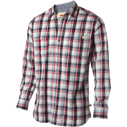 Button up the Dakota Grizzly Sinclair Shirt and button down your campsite. Whether you're gathering firewood or cooking cowboy stew, the Sinclair complements your rugged lifestyle with a comfortable but functional fit and feel. - $23.98