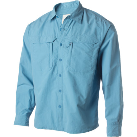 A guy who chooses to live his life outdoors still needs a good collared shirt ... it just needs to be made with quick-drying, airy material that works in both hot-and-dry as well as damp-and-cool conditions. That's exactly what the Mountain Khakis Men's Granite Creek Shirt is designed for. Taslan nylon offers exceptional comfort with a lightweight feel while the back vents and added UV protection help you maintain the proper comfort level to survive long horseback rides, rigorous hikes, and hours of no bites from finicky fish. - $94.95
