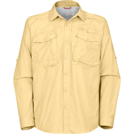Head from the office to the shoreline and back without missing a beat when you suit up with The North Face Pollock Woven Shirt. This lightweight utility shirt fits in anywhere it goes and features a rear venting system and oversized chest pockets to house your flybox, an extra leader, and tippet for quick escapes to the river. - $37.48