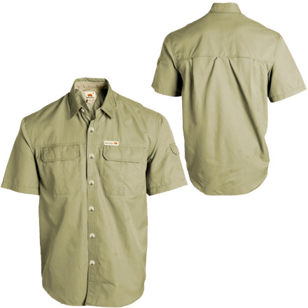Whether you actually live in the country or not, when you button up the Dakota Grizzly Sawyer Shirt, you feel like the rolling hills become your own personal wilderness. You wander the trails wearing this breathable, quick-drying, and moisture-wicking nylon shirt, which keeps you cool and comfortable even if you get lost trying to find that dag-blasted fishing hole. - $29.48