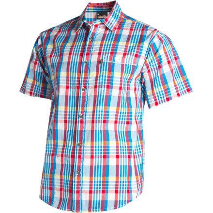 Pull on the Kavu Men\342\200\231s Rickyroo Short-Sleeve Shirt and trade office ballyhoo for backyard barbecue. - $27.48