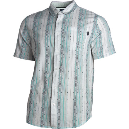 Made with ultra-soft, environmentally friendly organic cotton, the prAna Carillo Woven Shirt offers class, style, and conscience for those of the vertical-stripe persuasion. - $64.95