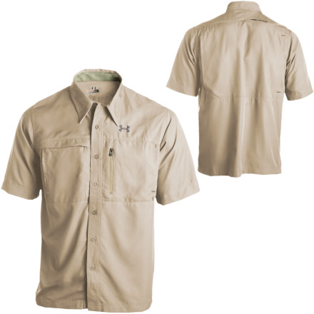 Camp and Hike Flannel might make you feel more like a woodsman, but during the summer, it'll kill you with heat. Reach for the Under Armour Men's Flats Guide 2 Shirt and stay cool when you venture out into Mother Nature's kingdom. Moisture-wicking fabric, strategic venting, and anti-odor fabric treatment mean you stay comfortable on long fishing trips or overnight backpacking escapes. This AllSeasonGear shirt even offers UPF protection from the sun to bolster its tough, but lightweight design. - $59.95