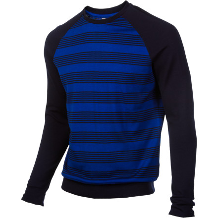 The Icebreaker City Eclipse Crew Sweatshirt is as versatile as you. Made with Bodyfit 260 fabric (merino wool), this simple and classic sweatshirt goes anywherewhether it's downtown or up the mountain top. Its raglan sleeves provide plenty of room to move and help complement its crew-neck design and graphic stripe detail. - $65.97