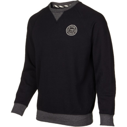 Skateboard Wear the Vans Encinitas Men's Crew Sweatshirt when you're at the skatepark on a crisp autumn day, then throw a collared shirt on underneath when you head out for your hot date later. - $43.56