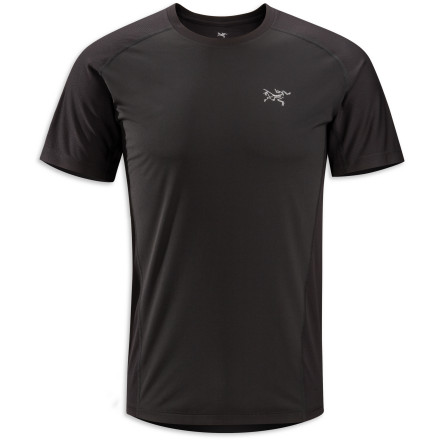 An incredibly thin polyester fabric makes the Arc'teryx Men's Velox Comp Short-Sleeve Crew breathable enough for the most demanding aerobic pursuits. - $42.22