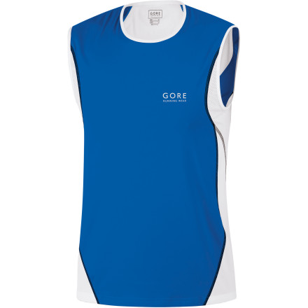Fitness Even a short run in the fresh air can be ruined by a stuffy workout top. The GORE RUNNING WEAR Men's Air Tank Top features mesh from the shoulders down the spine to release heat where it's generated. Now that fresh breeze generated with each stride isn't wasted by a top that doesn't breathe. - $24.98