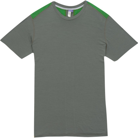 Climbing As part of the Ibex Peak line, the Men's Echo Sport T-Shirt is designed to be your moisture-controlling, odor-absorbing climb, hike, bike, and whatever-else-outdoors shirt. The Echo is proudly crafted in the US and features smooth, flatlock stitching to allow the jersey-weave merino wool to glide against your skin. The Echo shirt leaves you drier and more comfortable than any synthetic or cotton shirt you've ever worn. - $39.98