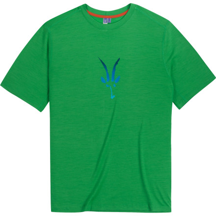Camp and Hike Show your appreciation for Ibex's extraordinary commitment to wool when you pull on the Men's Merino Logo T-Shirt. Soft and breathable merino wool fabric makes this top ideal for running, hiking, camping, travel, and anything else that gets your heart pumping in the outdoors. - $48.72