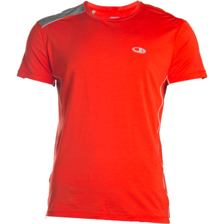 Fitness Ditch your ratty-old cotton running tee; the Icebreaker Men's GT Run Ace Crewe is going to blow your mind with its stretchy Lycra and natural merino wool. In case you haven't learned who's the boss in terms of layering these days, it's the sheep, and sheep who provide merino wool specifically. Icebreaker used merino wool to create this itch-free running top that not only breathes like a champ but also provides a touch of warmth when the weather turns brisk. Eyelet panels provide an additional measure of breath-ability (as if you needed it), and to keep things modern, a back stash pocket holds a MP3 player, and a loop at the neck manages your earphone cord. Pull on this athletic-fit top and drop the hammer on a training run in the mountains'the sheep will be impressed. - $29.98