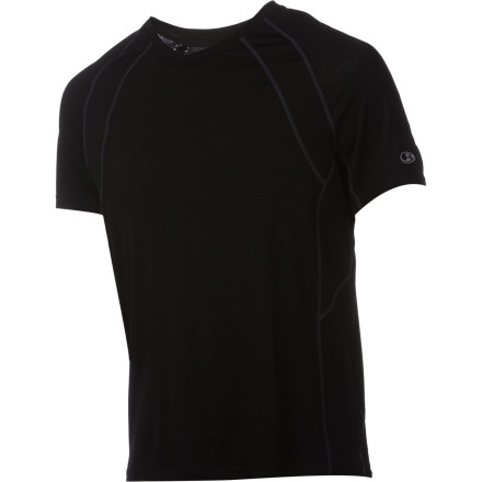 Your quest for self-preservation and individual actualization won't be easier with the Icebreaker Men's GT 150 Quest Crew, but it will be a bit more pleasant. That's because the raglan sleeve design, added back pocket, and precise blend of natural merino wool and stretchy spandex offer something to keep you focused on the trail, road, or rock. Soft merino controls moisture and keeps you cool, spandex and a raglan sleeve design allow unrestricted mobility, and a small stash pocket lets you dose those ailing muscles with enough energy to get over the hump. - $43.97