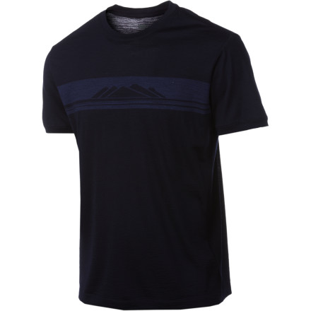 Fitness The Icebreaker Superfine 150 Tech Lite Alps Shirt easily keeps up with your fast-paced life without breaking down or acquiring a stench after a couple of sweaty hours on the running trail or sweaty days in and out of a tent. - $48.72