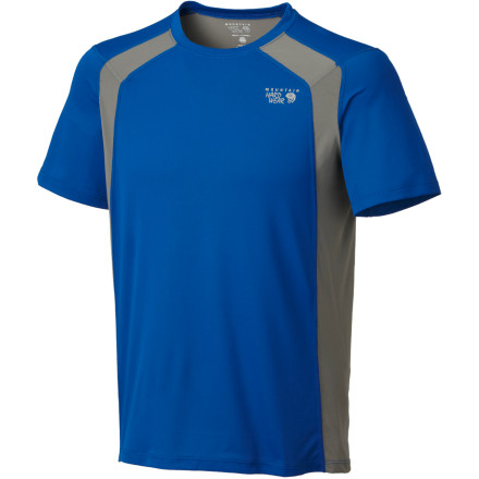 A wicked-lightweight tee is great to workout in, but a wicked-smelly tee is not a great side-effect of your workout. Mountain Hardwear used a natural Chitosan antimicrobial treatment to help control odor in your Wicked Lite Double T-Shirt. This soft tee also wicks moisture and dries quickly. - $24.67