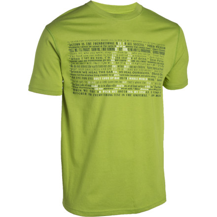 Camp and Hike While sending new routes, hiking through the mountains, or meeting new faces in the pub, the short-sleeve prAna Message Dri-Balance T-Shirt always feels right with its soft, quick-drying, moisture-wicking, and odor-resisting fabric. - $17.48