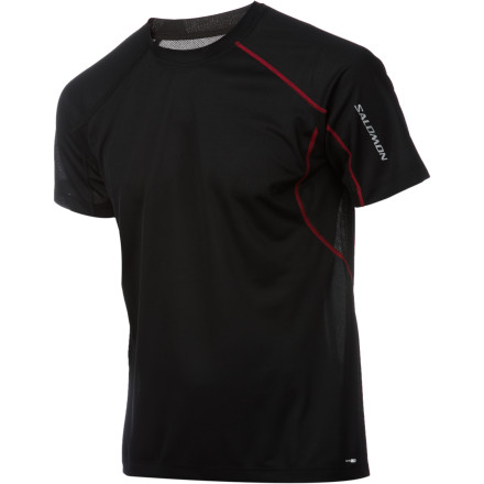 Fitness A running shirt with mesh underarm vents and a relaxed fit' That's the Salomon Men's Trail IV T-Shirt for you. This is a performance tee fit for everything from trail running in your backyard to backpacking across the country. - $26.57