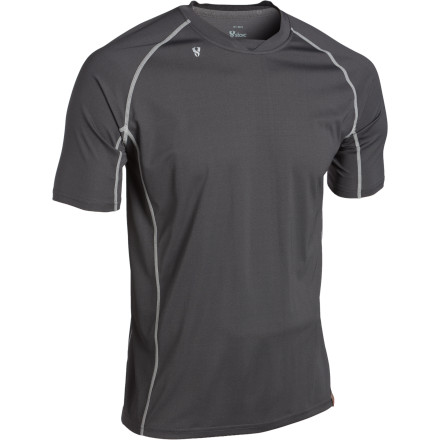 Camp and Hike Regardless what the weather decides to do, you'll be wise to have to Stoic Mens Breathe 90 T-Shirt on your back or in your pack. This technical T-shirt comes with a super-light polyester-nylon blend that floats over your skin on ascents on warm, sunny days ascents and provides a primary layer of insulation when the temperature drops. Stoics 3-D ergonomic fit frees you up to move, and the anti-microbial treatment fends off the funk so you don't clear out the bar post-hike. - $24.50