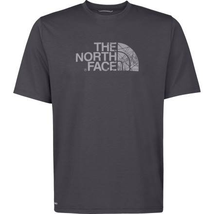 Camp and Hike Whether you wear it at the gym, during your run through the local park, or on your ridgeline hike, The North Face Reaxion Graphic T-Shirt features polyester to wick sweat and a touch of elastane for a slight stretch. - $19.96