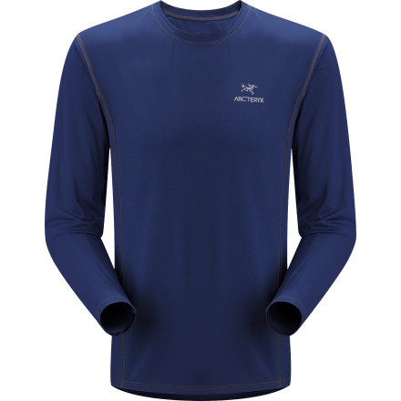 Fitness Arc'teryx made the Men's Long-Sleeve Ether Crew just the right weight for a brisk hike, run, or backpacking stint in cool high-altitude air. Silky-textured synthetic fabric draws perspiration away and lets it evaporate before you ever feel a chill, and flatlocked seams won't chafe under your backpack straps or hipbelt. Gusseted underarms mean the shirt won't ride up as you raise your arms to climb, scramble, or air-guitar to the '80s hair mix on your portable MP3 stereo. - $52.47