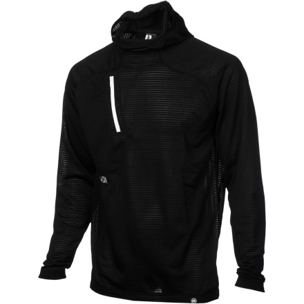 Ski Just because its cold enough to freeze your snot solid doesn't mean you won't sweat when you lap the park. The midweight, hooded Armada Rotor Power Dry HE Pullover Shirt wicks sweat off your skin so you can focus on your flat spins without damp chills. - $54.97