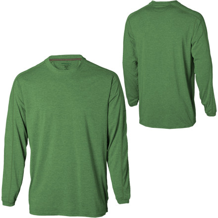 You put on the ExOfficio ExO Dri Crew before you sling your day pack over your shoulder and head out on a frosty spring trail. Soft and warm for the morning chill, this crew shirt's Dri-Release fabric boasts great breathability to help keep you cool as your body heats up with the rising sun. - $49.95
