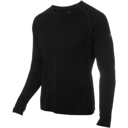 Camp and Hike The Icebreaker Men's Base Layer 260 Pursuit Long-Sleeve Crew keeps your body temperature regulated while you run your favorite trails, hike with friends, go bouldering, or get ready for a night under the stars. - $60.47