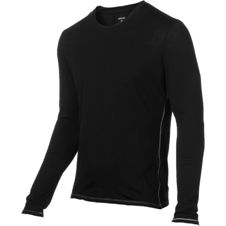 Designed for performance and finished for comfort, the Men's BodyFit 150 Long-Sleeve Crew baselayer shirt is like a rare, luxury sports car. Icebreaker made the ultralight fabric of this top by combining stretchy Lycra with naturally breathable merino wool. Suddenly you can move easily, you feel cool in hot conditions, and you realize that a next-to-skin layer can actually feel good next to your skin...what a concept. - $69.95