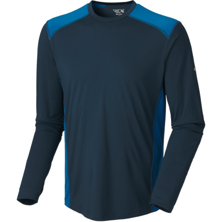 You carelessly let the sun get to you on your last hikethis time cover up with the Mountain Hardwear Men's Justo Trek Long-Sleeve Shirt. This lightweight, stretchy, wicking shirt features UPF 50-rated protection from the sunburn, so you can head out at high altitudes without worries. Mountain Hardwear even included longer cuffs to cover up the tops of your hands. The fabric is also finished with Chitosan so it resists odors and stays fresh longer. - $23.98