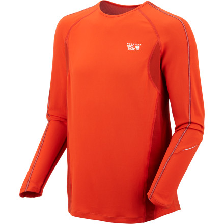 From the Elmoro Shirt's ventilation panels to the crazy-efficient wicking fabric, it's obvious that this Mountain Hardwear shirt was made for aerobic athletes. Mountain Hardwear's engineers even gave this top a finish that repels post-marathon stench. - $38.97