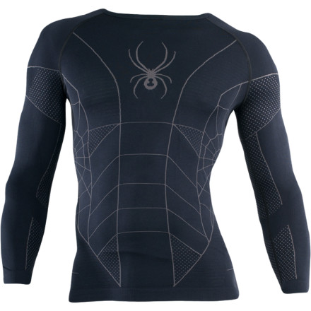 Ski The Spyder Skeleton X-Static Long-Sleeve Top is a super-human second skin that rapidly wicks moisture and helps your body regulate its temperature during sweat-inducing aerobic activities in winter weather. Wear this high-performance baselayer on intense ski days when you're pushing your body to its limits. - $79.96