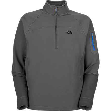 Fitness You've been itching for a good wintertime trail run, and you finally have a morning free from holiday gorge-fests. Pull on The North Face Sabretooth Zip Top and pretend you're a prehistoric tiger out on the hunt for dinner. - $37.48