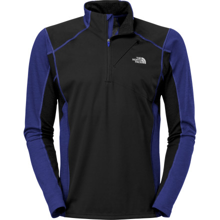 Fitness Extend your running season into late fall when you slip on The North Face Winter Sub Zero Aries Shirt. Its Windblock front panel stops the wind and resists drizzle to keep your core protected from the weather, and the merino wool and FlashDry sleeves funnel excess body heat out, wick sweat, and insulate when you need it. - $71.47