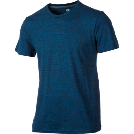 Surf Sometimes it's best to keep your look simple and clean, and the Quiksilver Men's Blank Heather Slim T-Shirt accomplishes just that. A touch of rayon adds some stretch to the cotton-and-poly blend fabric, which breathes easy and feels comfortable as all get-out on hot summer days. - $19.80
