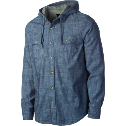 Entertainment The missing link between a hoodie and a button-down, the Burton Bernidge Hooded Shirt Jacket gives you the style of a dress shirt with the good times that comes with having a cinchable hood. - $59.96