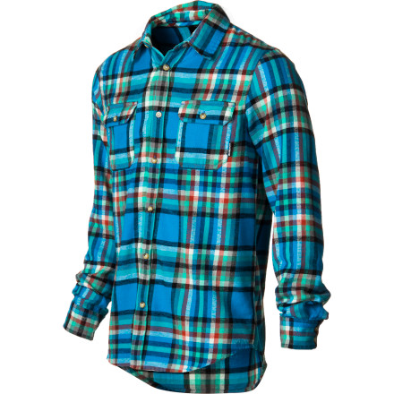 Snowboard Button up the Burton Brighton Flannel Shirt and count down the days until you can drop Mary's chutes and get to the goods at 10-420 first. - $37.46