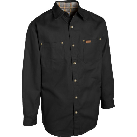 Whether you\\342\\200\\231re at work or at play, you like to use tools and get dirty. The Carhartt Canvas Flannel Lined Shirt Jacket understands you. Rugged triple-stitched main seams and rivet-reinforced chest pockets maximize durability. Enjoy the flexibility of 2-snap adjustable cuffs. - $59.95