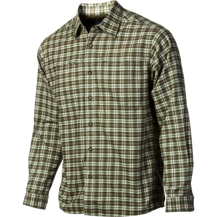 Camp and Hike The ExOfficio Men's Trailing Off Micro Plaid Long-Sleeve Flannel Shirt has a cool, casual vibe that is great for after-work hangouts and post-workout beer runs. The warm fabric and durable construction will keep you feeling good when you leave town to get  your fill of hiking into the backcountry and sitting around the campfire. - $43.97