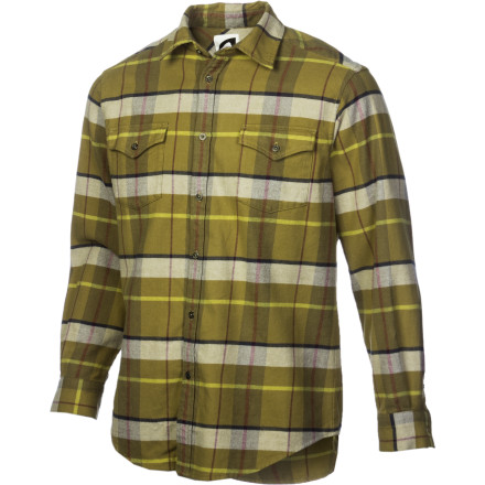 Hunting The Mountain Khakis Teton Flannel Shirt was woven from pine needles, moose hide, and mountain soil. Well, not really, but that's the sense of rugged style you'll convey with this tough-yet-comfortable shirt. - $55.97