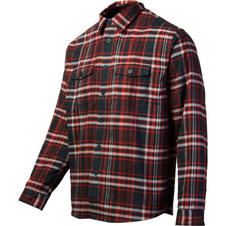 Patagonia calls the Buckshot Flannel Shirt a surfer's mainstay, but we wear this puppy all winter long, and there ain't no waves here in Utah, unless you consider the 500-plus inches of snow to be a liquid/plasma/perfection hybrid wave of sorts. We just call it powderand we call the Buckshot a supremely comfortable shirt for dominating the aprs scene, hitting the No Name Saloon for a burger (or a cougar, depending on the mood), and chilling by the fire. Patagonia's mid-weight organic cotton flannel is ultra soft, and the slim(ish, we're not all triathletes) fit looks great tucked in for dinner or left loose over some cords. - $55.30