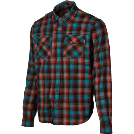 Button up the prAna Mens Asylum Flannel Shirt before you head outside to chop wood. This thermal-lined shirt brings added warmth when you step into the chill of fall, and the antique metal buttons add some rustic detail. - $62.97