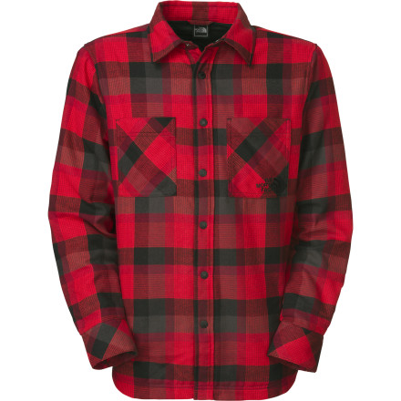 Camp and Hike Drag your family out into the snow to find the perfect Christmas tree when you wear the insulated Fort Point Flannel Shirt from The North Face. The 40g layer of Heatseeker insulation keeps you nice and toasty while you search the perfect bastion of of the holiday, and it keeps you cozy when the kids start to lose their cheer. - $65.97
